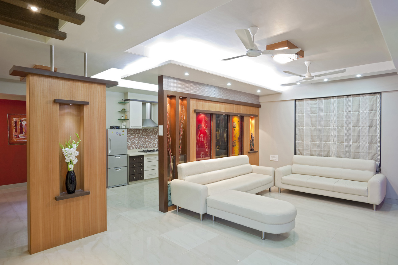 Interior designs for living room tv room interiors pune for Apartment interior design mysore