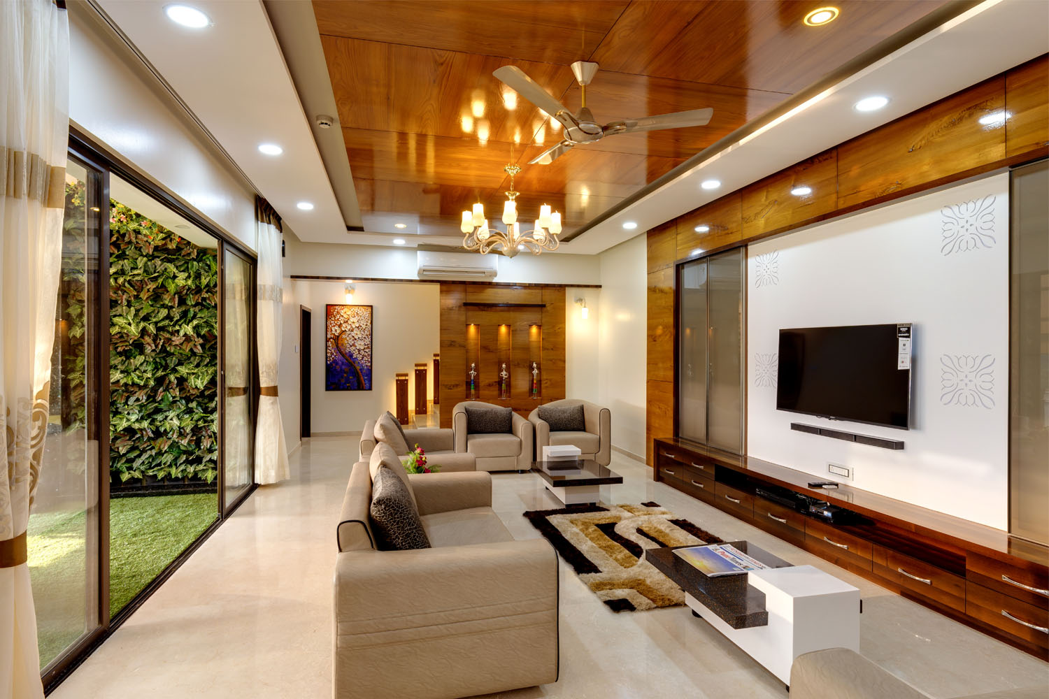 Best interior designer pune nerlekar interior designing for Best living room designs in india